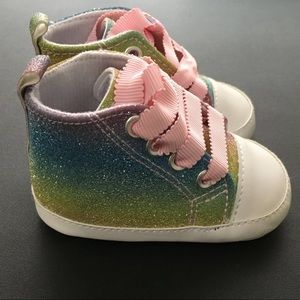 Rising Star Sparkly Baby Girl Sneakers 3-6 months